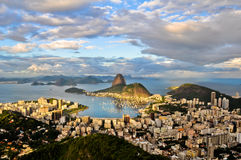Rio de Janeiro. View of a city with Sugar Loaf Mountain in the front Royalty Free Stock Images