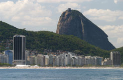 Rio de Janeiro. The city of Rio de Janeiro, Brazil, seen from the ocean Royalty Free Stock Photo