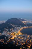Rio de Janeiro from above. Rio de Janeiro as seen from the mountain top on which Christ the Redeemer statue stands Stock Images