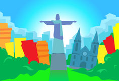 Rio De Janeiro Abstract Skyline City-Wolkenkrabber vector illustratie