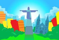 Rio De Janeiro Abstract Skyline City-Wolkenkratzer Lizenzfreie Stockfotografie