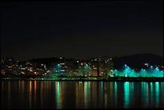 Rio de Janeiro alla notte Fotografie Stock