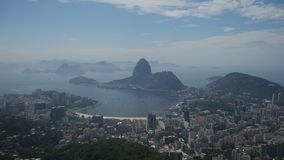 Rio de Janeiro, Ansicht vom Corcovado stock video footage