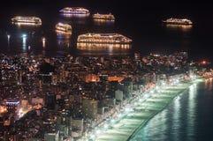Rio de Janeiro antes del Año Nuevo Imágenes de archivo libres de regalías