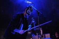 Arcade Fire. Rio de Janeiro, April 4, 2014 Royalty Free Stock Photo