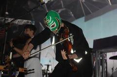 Arcade Fire. Rio de Janeiro, April 4, 2014 Royalty Free Stock Photos