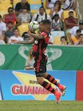 Paolo Guerrero. Rio de Janeiro, April 30, 2017.nFlamengo soccer player, Paolo Guerrero, in action at the Flamengo Vs. Fluminense game at the Maracanã Stadium in Stock Images