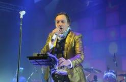 Arcade Fire - Win Butler. Rio de Janeiro, April 4, 2014 Royalty Free Stock Photos