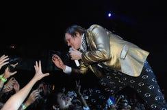 Arcade Fire - Win Butler. Rio de Janeiro, April 4, 2014 Stock Photography