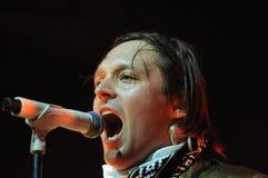 Arcade Fire - Win Butler. Rio de Janeiro, April 4, 2014 Royalty Free Stock Photography