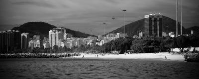 Rio de Janeiro as seen from a boat on Baia de Guanabara Royalty Free Stock Photos