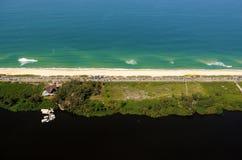 Reserva Beach. Rio de Janeiro, August 12, 2014 Stock Photos