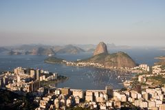 Rio de Janeiro, bahía de Botafogo Foto de archivo libre de regalías
