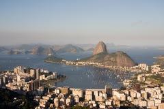 Rio de Janeiro, baia di Botafogo fotografia stock libera da diritti