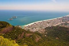 Rio de Janeiro, Barra da Tijuca. Aerial view of Barra da Tijuca in Rio de Janeiro, Brazil royalty free stock photo