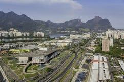 Rio de Janeiro, Barra da Tijuca aerial view Royalty Free Stock Images