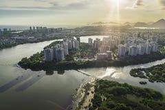 Rio de Janeiro, Barra da Tijuca aerial view Royalty Free Stock Photo