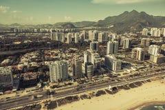 Rio de Janeiro, Barra da Tijuca beach with modern architecture Stock Photo
