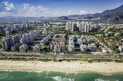 Rio de Janeiro, Barra da Tijuca beachfront architecture Stock Photo