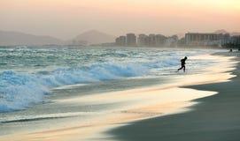 Rio de Janeiro beach. Boy on the beach in Rio de Janeiro Royalty Free Stock Photography