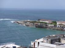 Rio de janeiro Beach de cima de e forte de Copacabana fotografia de stock