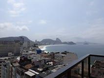 Rio de Janeiro Beach en Sugar Loaf royalty-vrije stock afbeeldingen