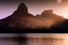 Rio de Janeiro bei Sonnenuntergang Stockfotografie
