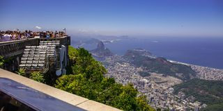 Rio de Janeiro, best top view Brazil today.  Corcovado. Royalty Free Stock Images
