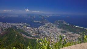 Rio de Janeiro, best top view Brazil today.  Corcovado. Photo taken on Mount Corcovado, having a far-flung ... Rio de Janeiro city Royalty Free Stock Images