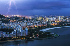 Rio de Janeiro bis zum Nacht Lizenzfreies Stockbild