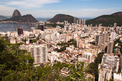 Rio de Janeiro, Botafogo, and Sugarloaf Mountain Royalty Free Stock Images