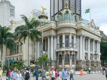 RIO DE JANEIRO, BRÉSIL 24, MAI 2016 : le theatro historique municipal dans Rio de Janeiro image stock