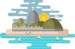 Rio de Janeiro, Brasil ilustração do vetor