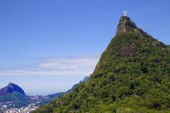 Rio de janeiro, Brasil, estátua de Cristo na montagem Corcovado foto de stock royalty free