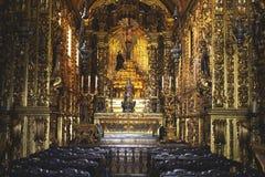 Rio de janeiro, Brasil - 10 de outubro de 2018: O Mosteiro de Sao Bento St Benedict Monastery em Centro em Rio de janeiro brasil foto de stock royalty free