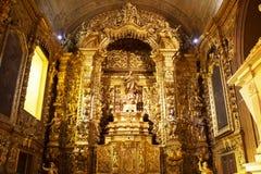 Rio de janeiro, Brasil - 10 de outubro de 2018: O Mosteiro de Sao Bento St Benedict Monastery em Centro em Rio de janeiro brasil fotos de stock royalty free