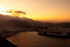 Rio de Janeiro Brasilien, Botafogo strand royaltyfri fotografi