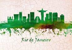 Rio de Janeiro Brasilien horisont vektor illustrationer