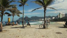 Rio De Janeiro Brasilien 24, Maj, 2016: Ipanema strand från Arpoador i Rio De Janeiro lager videofilmer