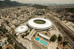 Rio de Janeiro Brasilien, Sydamerika, sommar, 2014, latin, dagen, antennen, den flyg- sikten, helikopter, förbiser, beskådar, spo Royaltyfri Foto