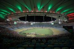 Rio de Janeiro Brasilien, Sydamerika, sommar, 2014, latin, nattetid, folk, sport, sportar, fotboll, fotboll, Worldcup, M Royaltyfri Bild