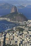 Rio de Janeiro, Brazil. View of famous mountain over the city Stock Image