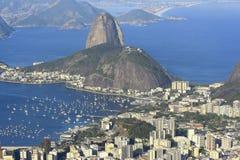 Rio de Janeiro, Brazil. View of famous mountain over the city Royalty Free Stock Photography