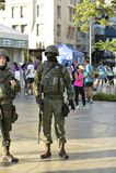Army in the streets of Rio de Janeiro. Rio de Janeiro, Brazil - april 29, 2018: Army makes patrol on the streets of the city center of Rio de Janeiro, after royalty free stock photo