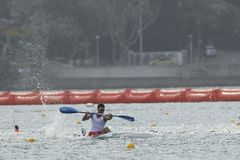 Olympic Games Rio 2016. Rio de Janeiro, Brazil. August 20, 2016. CANOE SPRINT - BEAUMONT Maxime (FRA) during Men's Kayak single 200m at the 2016 Summer Olympic Stock Images