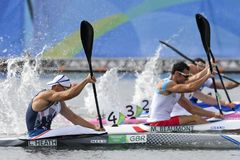 Olympic Games Rio 2016. Rio de Janeiro, Brazil. August 20, 2016. CANOE SPRINT - HEATH Liam (GBR) during Men's Kayak single 200m at the 2016 Summer Olympic Games Royalty Free Stock Images