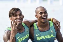 Olympic Games Rio 2016. Rio de Janeiro, Brazil. August 20, 2016. de SOUZA SILVA Erlon and QUEIROZ dos SANTOS Isaquias (BRA) during Men's Canoe Double 1000m final Stock Image