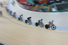 Cycling team training for the 2016 Olympic Games Stock Photography