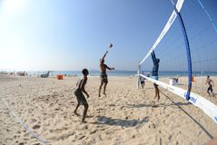 Beach volbleyball in Ipanema Stock Photography