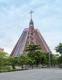 Rio de Janeiro, Brazil, Cathedral. St. Sebastian`s Cathedral is a Cathedral in Rio de Janeiro. The building has a conical shape with an internal deter of 96 m stock images